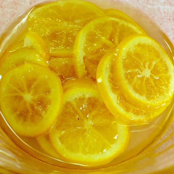 レンジで時短!すぐ食べられるレモンのはちみつ漬け☆