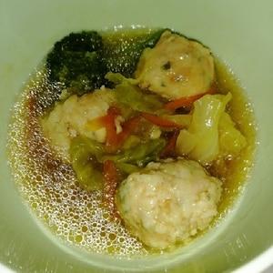 簡単手作り肉団子と野菜たっぷり☆おかずスープ