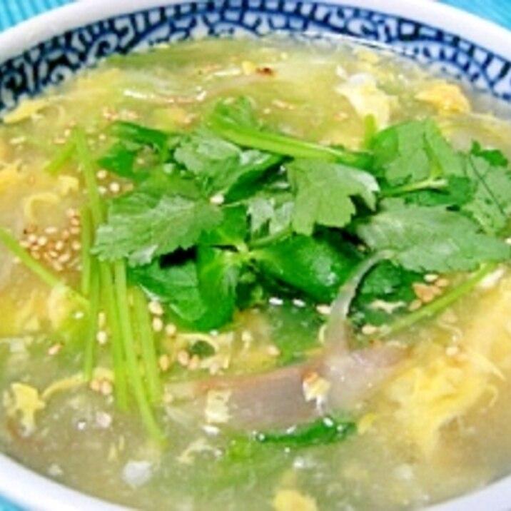 簡単でうまい!みょうがとレタスの中華スープ