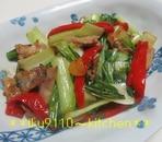 簡単♪豚肉とチンゲン菜のオイスター炒め