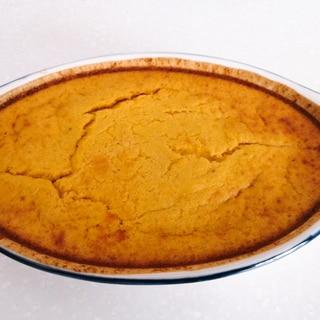 グルテンフリーなチーズケーキ風パンプキンケーキ