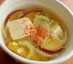 ゴーヤーとさつまいもの味噌汁