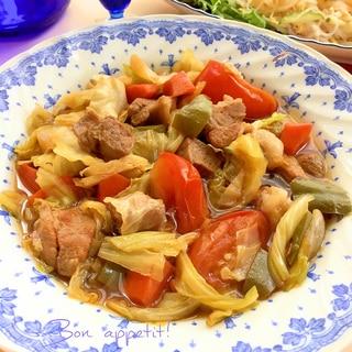 ☆★豚肉と野菜の薄味ピリ辛煮♪★☆