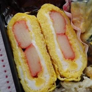 お弁当に♡かにかま入り卵焼き