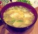豆腐と卵の中華スープ
