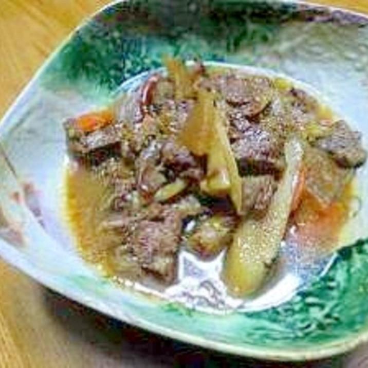 お酒が進む♪トロトロ牛スジの味噌煮込み。