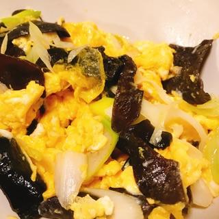 中華★卵とキクラゲの炒め物