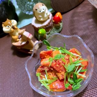 我が家の定番(*´艸`*)コチュまよトマト