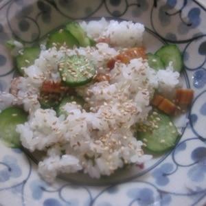 お花見に穴子ときゅうりのちらし寿司
