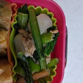 小松菜のシーフード炒め