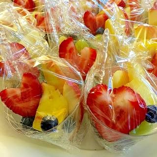 可愛い♡フルーツカップ 学校行事パーティーに20個