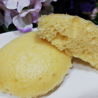スチームオーブンで!簡単チーズ蒸しパン