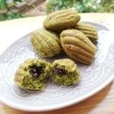 HM♪ビタントニオでマドレーヌ 緑茶×あんこ