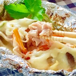 簡単♫鮭の味噌マヨチーズホイル焼き