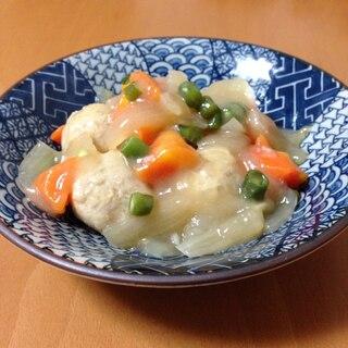 鶏団子の野菜あんかけ♪
