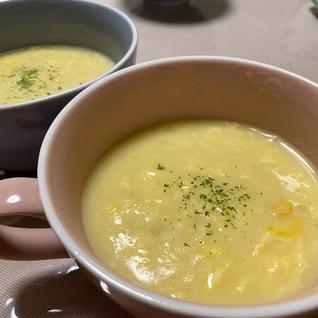 中華風コーンスープ(スープの素アレンジ)