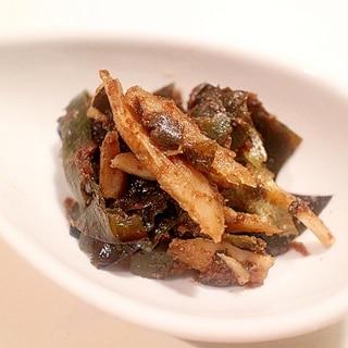 【ダシ昆布の再利用】牛蒡と昆布の煮物(減塩レシピ)