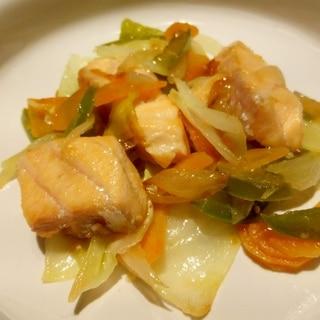 幼児食 鮭のちゃんちゃん焼き