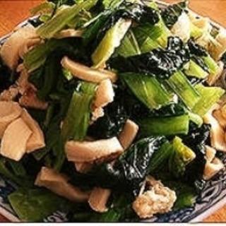 白だしで簡単!小松菜とお揚げの煮浸し