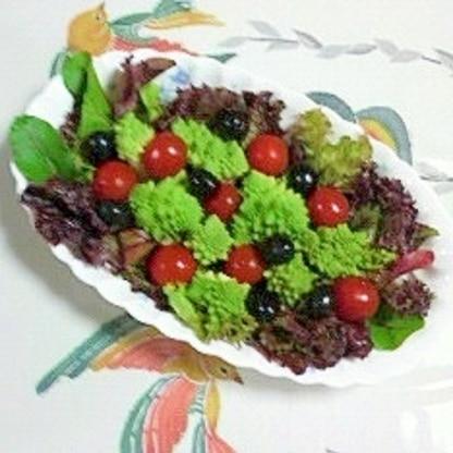 ベビーリーフとロマネスコのサラダ