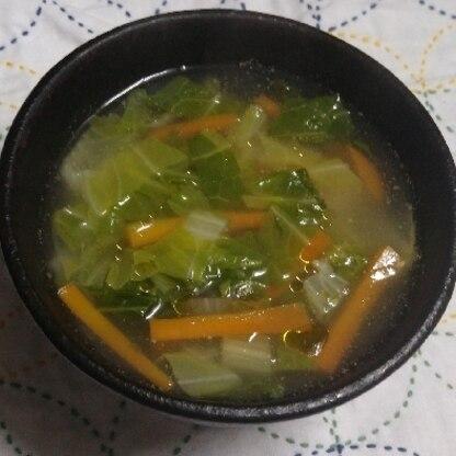 家庭菜園の白菜で作りました(*^^*)レシピありがとうございます。