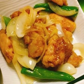 甘辛☆鶏肉と玉ねぎとししとうの炒め煮