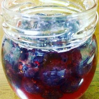 ブルーベリーの蜂蜜漬け