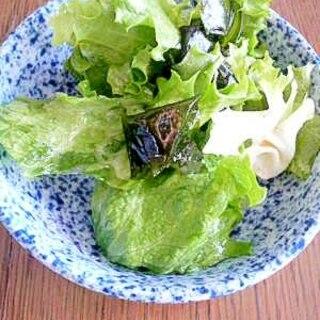 レタスとわかめのチョレギサラダ