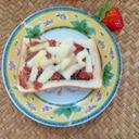 朝食♩コンビーフ海苔チーズトースト