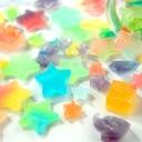 レインボー琥珀糖