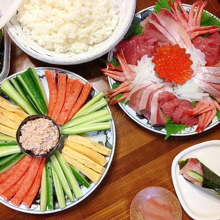 手巻き寿司☆パーティー
