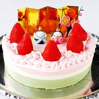 雛祭り用三段レアチーズケーキ