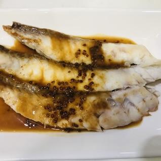 白身魚のソテー♡レモンマスタードソース添え