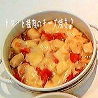 トマトとひき肉と豆腐のチーズ焼き♪