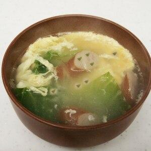 ウインナーと野菜の卵とじコンソメスープ