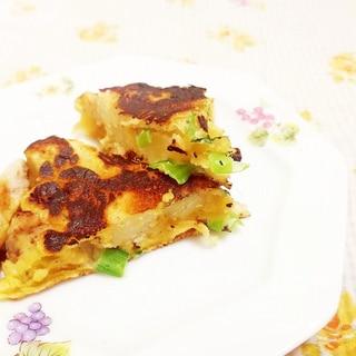 小松菜とじゃがいものおかずパンケーキ