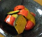 かぼちゃとパプリカのカレー炒め