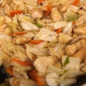 鶏むね肉で回鍋肉風味噌炒め