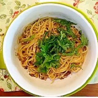 レンジで作る「いわしスパゲティ」