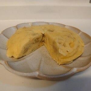 レンジで簡単 おからパウダーのバナナ蒸しパン