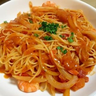 蟹味噌のトマトクリームパスタ
