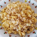 たんぱく質たっぷり☆鶏ひき肉の炒り卵