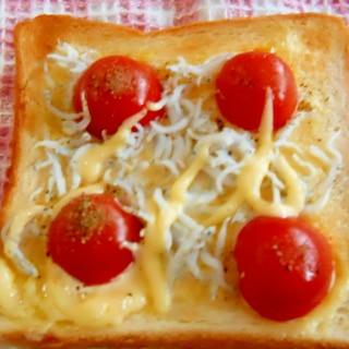 トマトしらすトースト♪