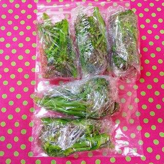 菜の花の冷凍保存