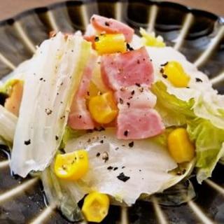 レンジでチン!白菜とベーコンとコーンの塩バター蒸し