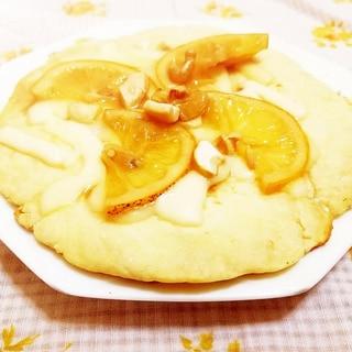サクサク米粉のレモンピザ