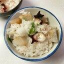 簡単ほくほく♡タコと里芋の炊き込みご飯