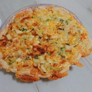 簡単ランチ☆オムレツピザ