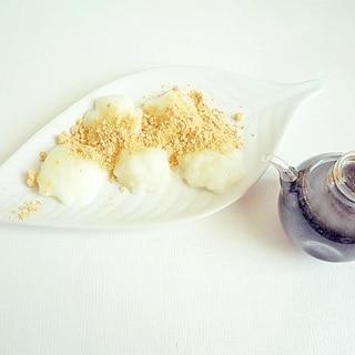 電子レンジと片栗粉で ミルクわらび餅