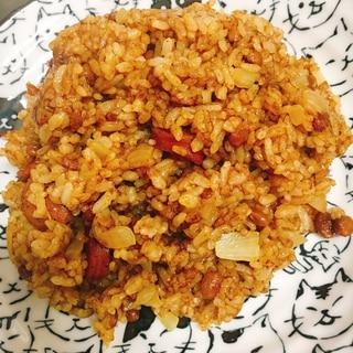 納豆カレー炒飯
